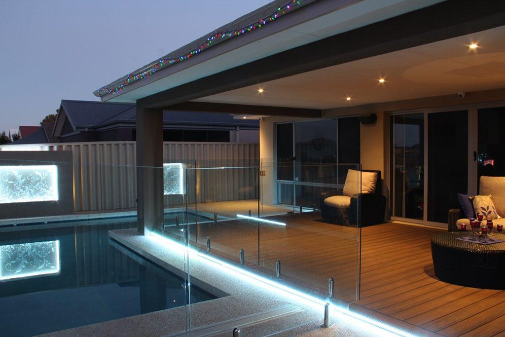 Pergola pool lights