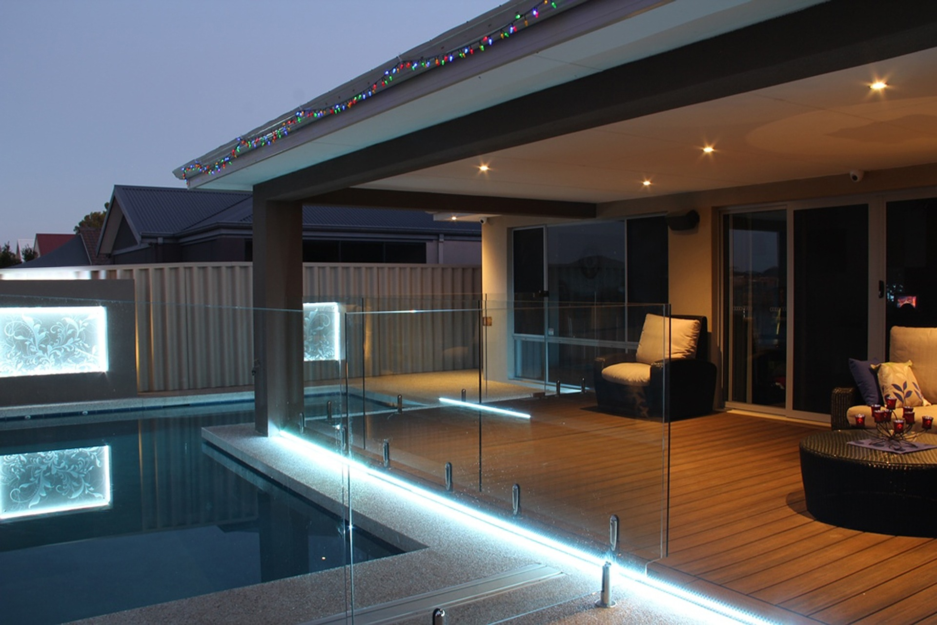 Pergola pool lights